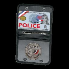 Porte-carte forces de l'ordre de cou avec emplacement médaille